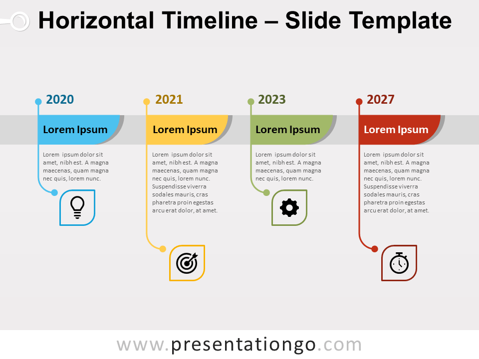 Horizontal Timeline for PowerPoint and Google Slides