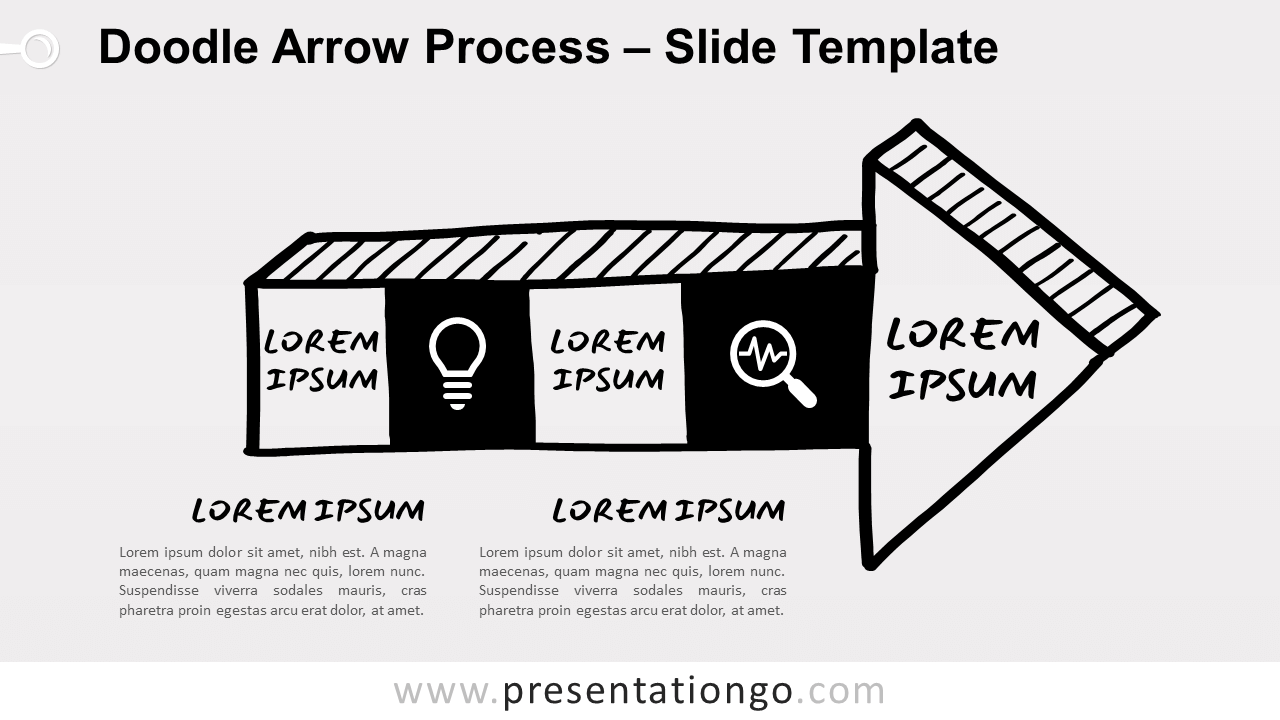 Doodle Arrow Process for PowerPoint and Google Slides