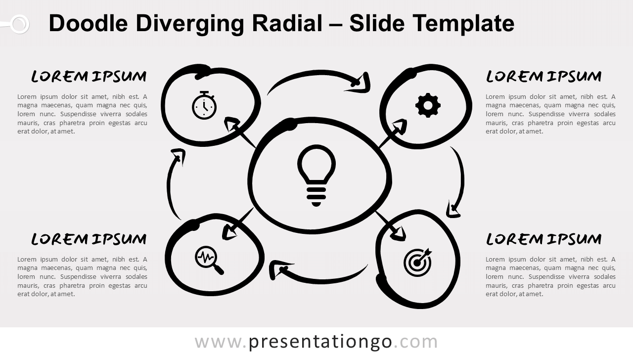 Doodle Diverging Radial for PowerPoint and Google Slides