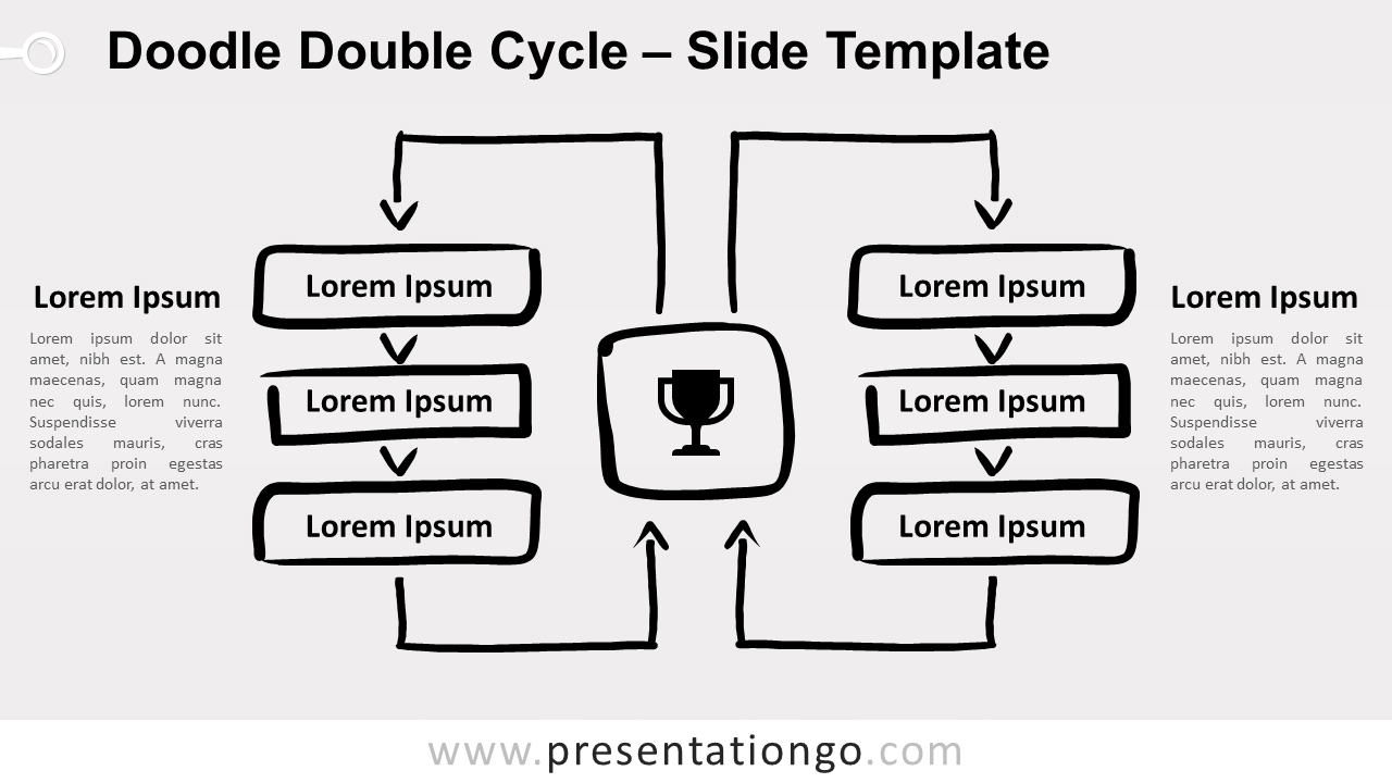 Doodle Double Cycle for PowerPoint and Google Slides