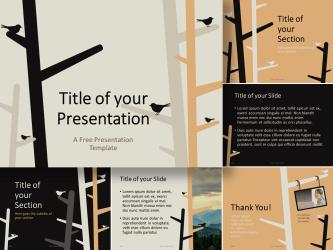 Free Brown PowerPoint Templates PresentationGO com