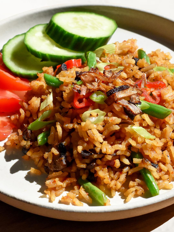 Nasi Goreng Vegetarian : goreng, vegetarian, Allplants, Vegan, Goreng