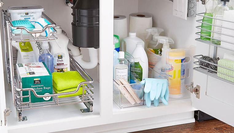 kitchen sink organization ideas how