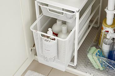 how to organize your under bath sink