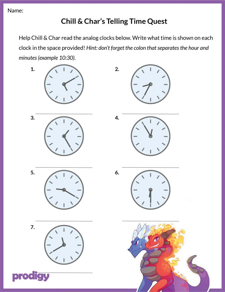 https://www.prodigygame.com/blog/telling-time-worksheets/ [ format x 1024 Pixel ]