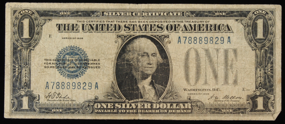 A Series Of One Dollar Silver Certificates 1935