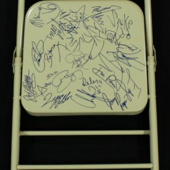 Steel Chair In Wwe Salon Covers Black Online Sports Memorabilia Auction Pristine Signed By 24 With The Big Show Chris Benoit