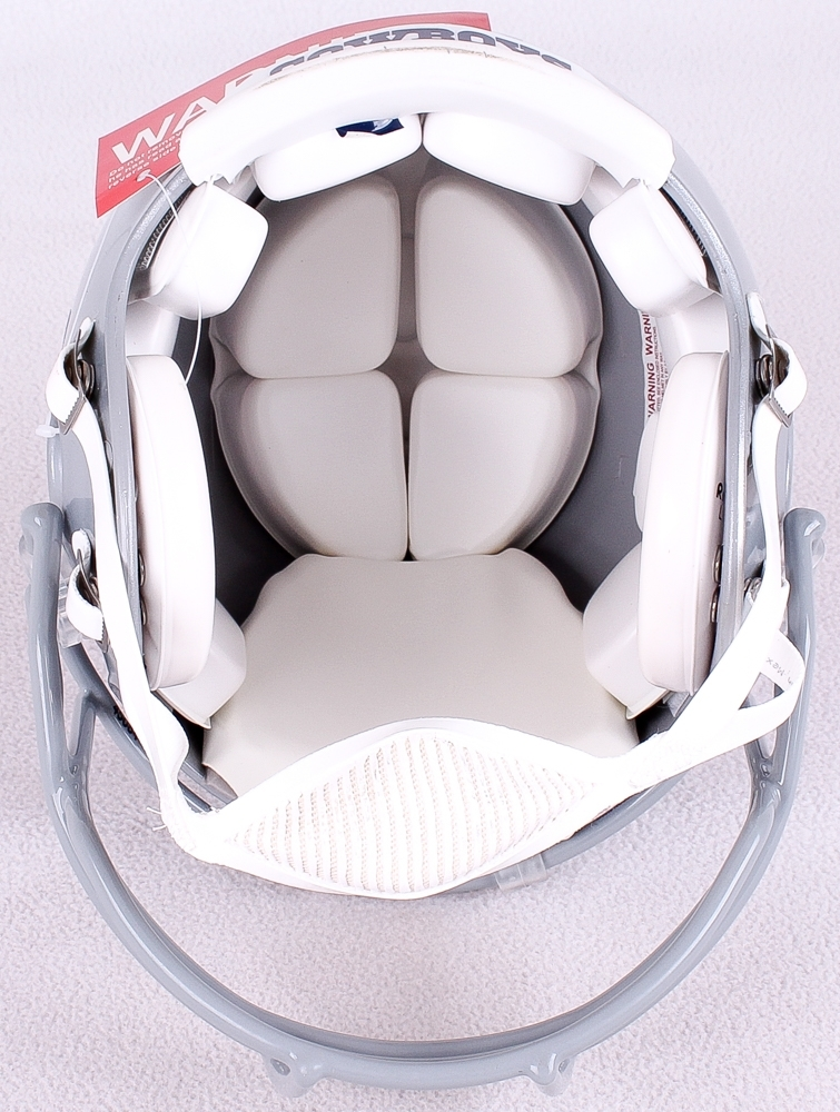 cowboys football helmet chair pottery barn wicker cushions online sports memorabilia auction pristine troy aikman signed le full size authentic pro line inscribed hof