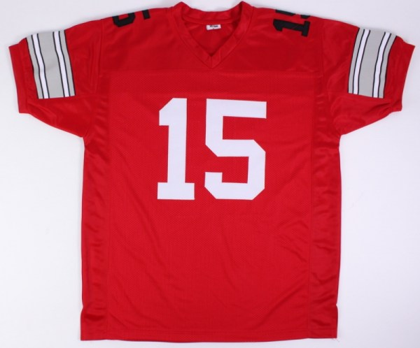 Men Ohio State Buckeyes Ezekiel Elliott Red Diamond - imgUrl 3e65fcd17