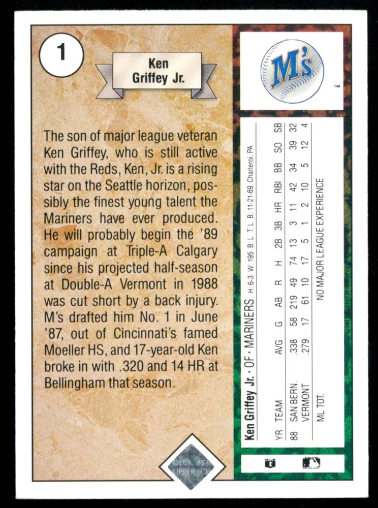 Ken Griffey 1989 Upper Deck