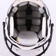 Cowboys Football Helmet Chair White Wooden Ikea Online Sports Memorabilia Auction Pristine Troy Aikman Emmitt Smith Michael Irvin The Triplets Signed Matte Black