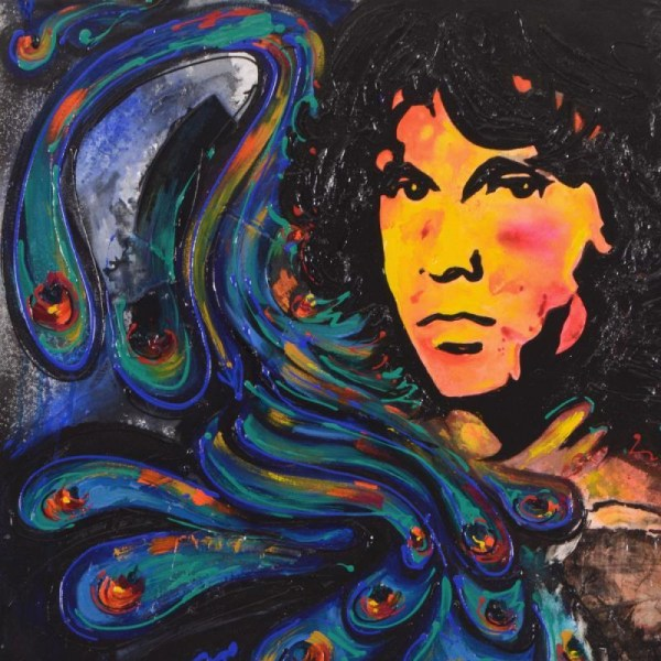 Jim Morrison Acrylic Painting
