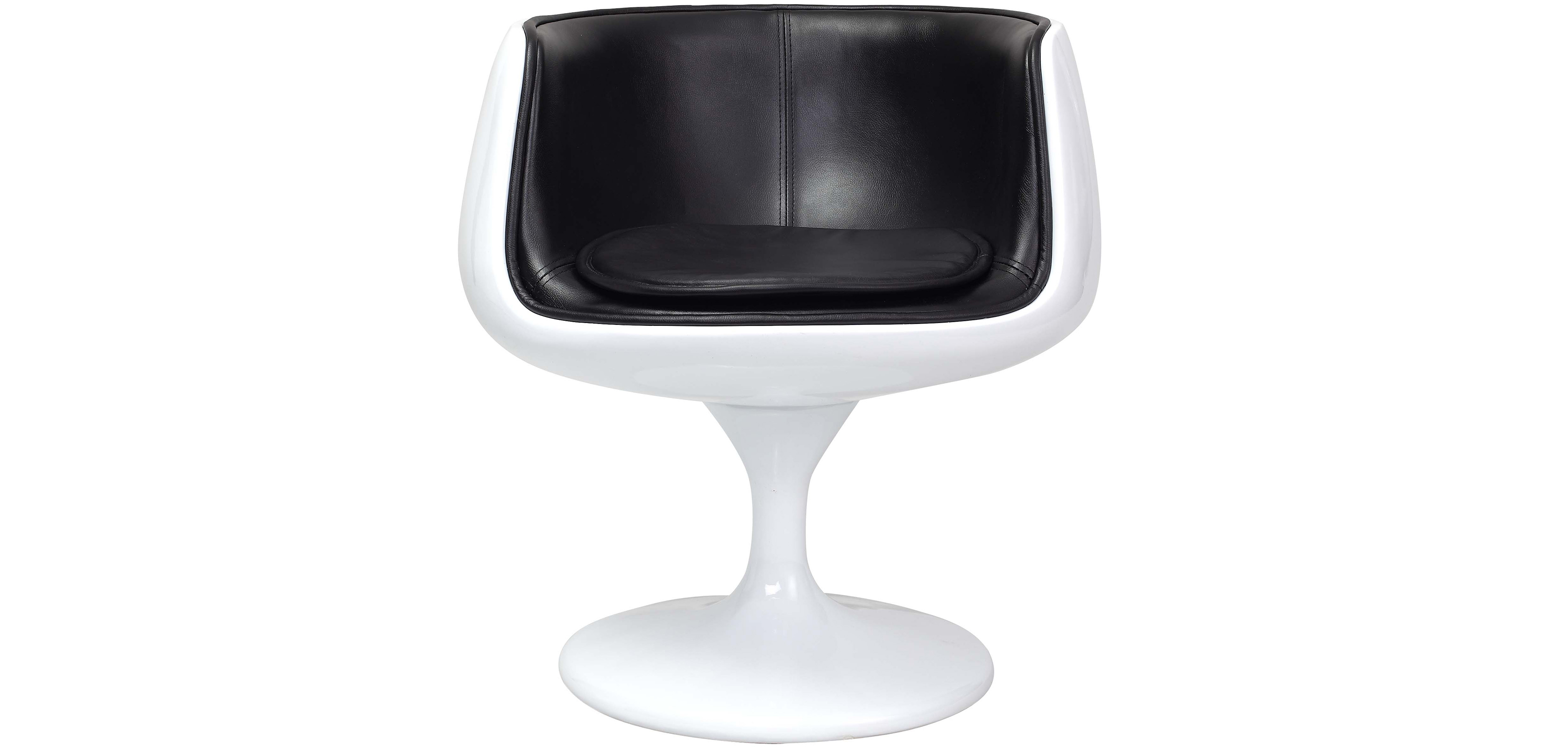 white shell chair extra large beach chairs cognac eero aarnio style faux leather