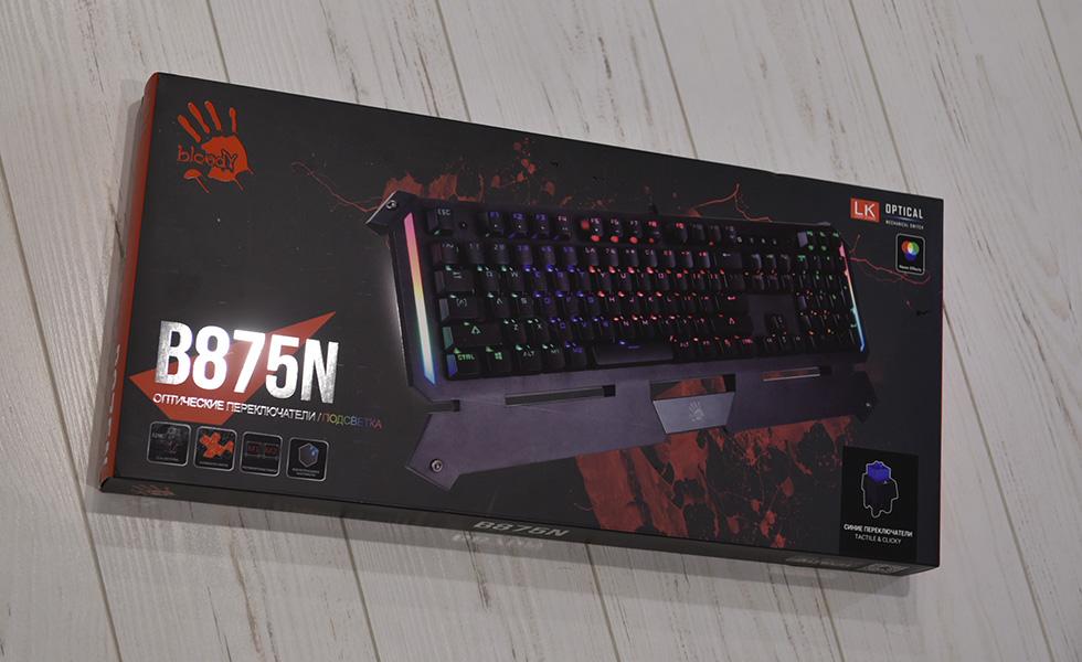 Игровая клавиатура Bloody A4 Tech B875N.