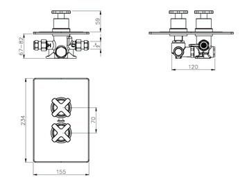 Abode Euphoria Concealed Thermostatic Shower Mixer Valve