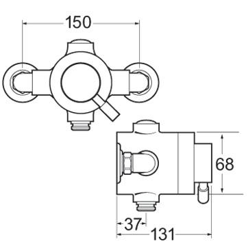 Deva Vision Sequential Thermostatic Exposed Shower Valve