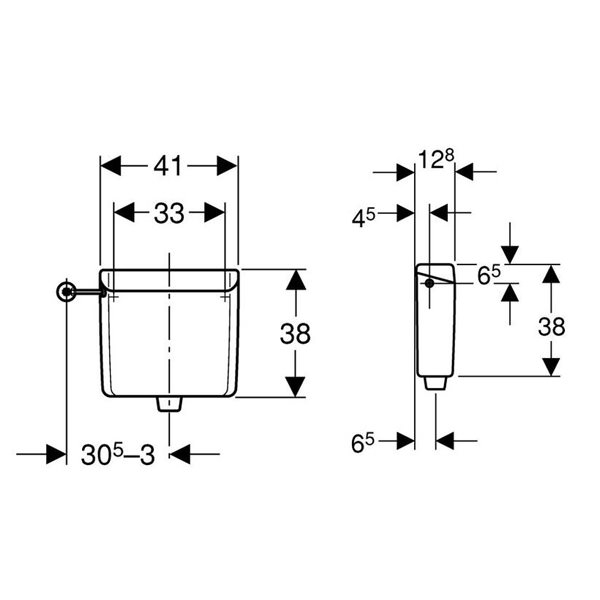 Geberit Single Flush Concealed Cistern Type123