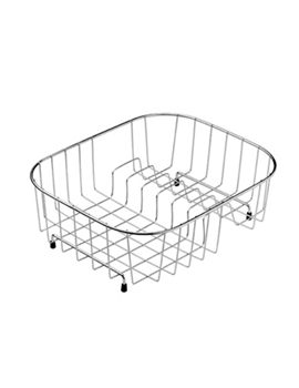 kitchen drainer basket cabinet refacing cost sinks accessories qs supplies uk rangemaster stainless steel ka12ss