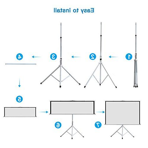 Projector Screen with Stand 100 Inch 4:3- Height