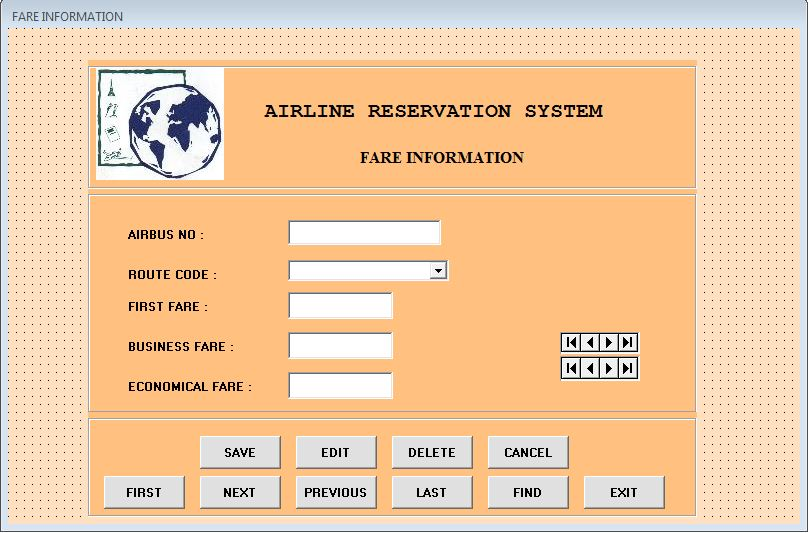 Airline Reservation System Project Visual Basic ProjectsGeek