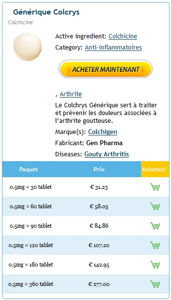 Prescription De Colcrys