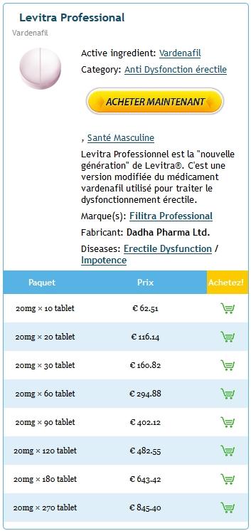 Acheter Professional Levitra Generique En France