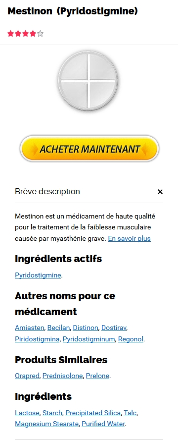 Cout Du Mestinon 60 mg