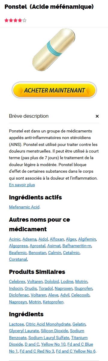 Ponstel 250 mg Prix En France