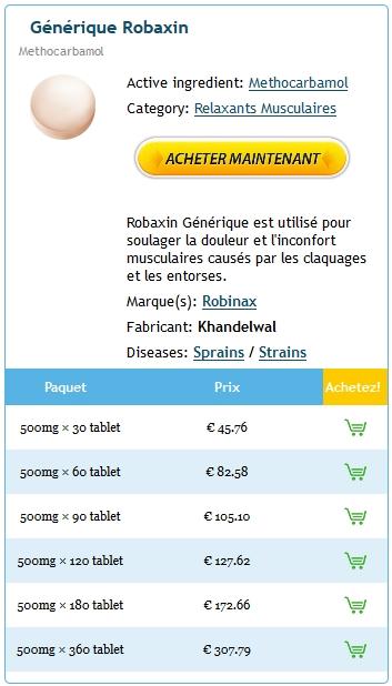 Achat De Robaxin 500 mg Sur Internet
