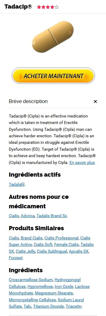 Tadacip 10 mg Sur Internet