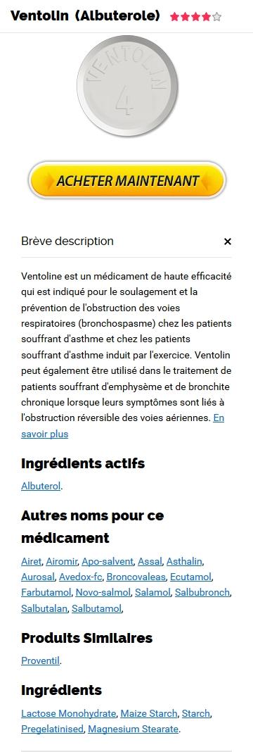 Medicament Equivalent Au Ventolin 100 mcg