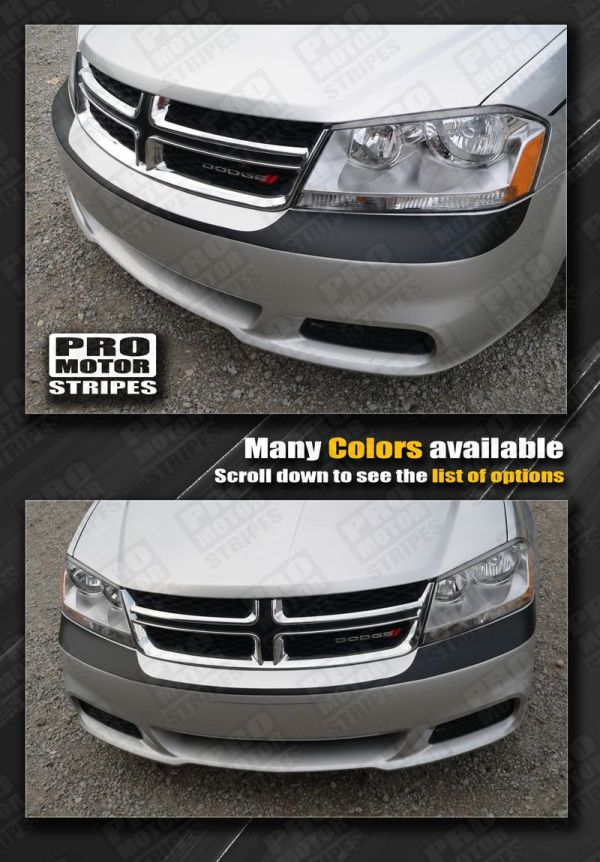 Dodge Avenger Front Bumper Headlight Accent Stripe 2008