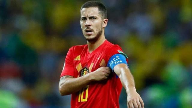 Belgium captain Eden Hazard.