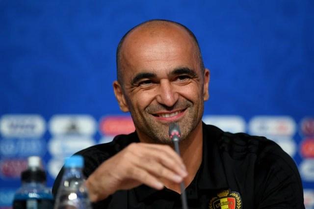 Belgium coach Roberto Martinez.
