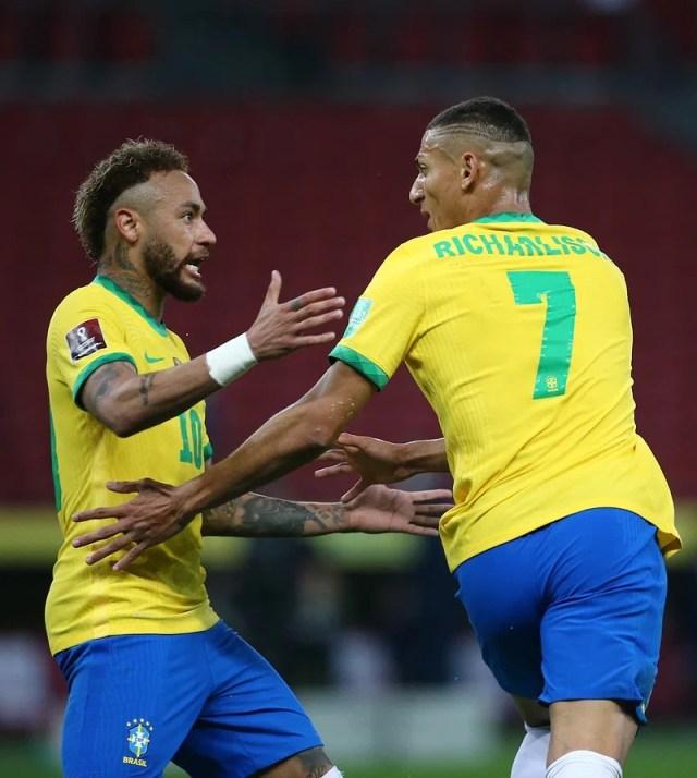 Richardson scored Brazil's first goal before Neymar.