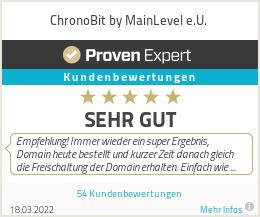 Erfahrungen & Bewertungen zu ChronoBit by MainLevel.at
