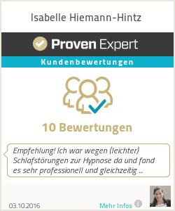Erfahrungen & Bewertungen zu Isabelle Hiemann-Hintz