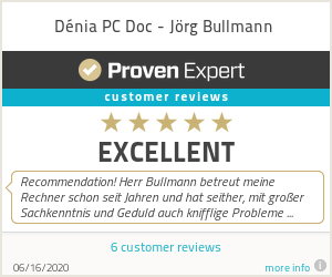 Ratings & reviews for Dénia PC Doc - Jörg Bullmann
