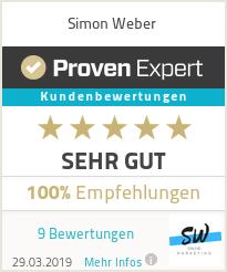 Erfahrungen & Bewertungen zu Simon Weber