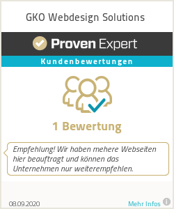 Erfahrungen & Bewertungen zu GKO Webdesign Solutions