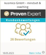 Experiences & ratings of kusmico GmbH - mindset & coaching