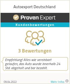 Erfahrungen & Bewertungen zu Autoexport Deutschland