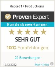 Erfahrungen & Bewertungen zu Record17 Productions