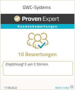 Erfahrungen & Bewertungen zu GWC-Systems