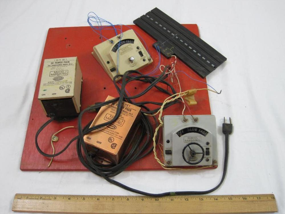 medium resolution of lot of ho scale aurora slot car controllers and dc power packs see pictures for