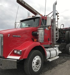 2009 kenworth t800 tri axle log truck [ 1024 x 768 Pixel ]