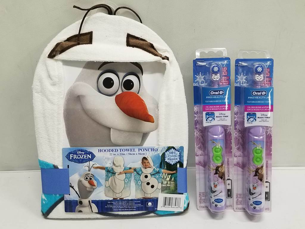 Frozen Bathroom Lot Frozen Olaf Bathroom Lot Hooded Towel Poncho 2 Oral B Pro