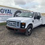 2008 Ford F 350 Crew Cab Dually Service Pickup Truck Commercial Trucks Service Utility Trucks Online Auctions Proxibid