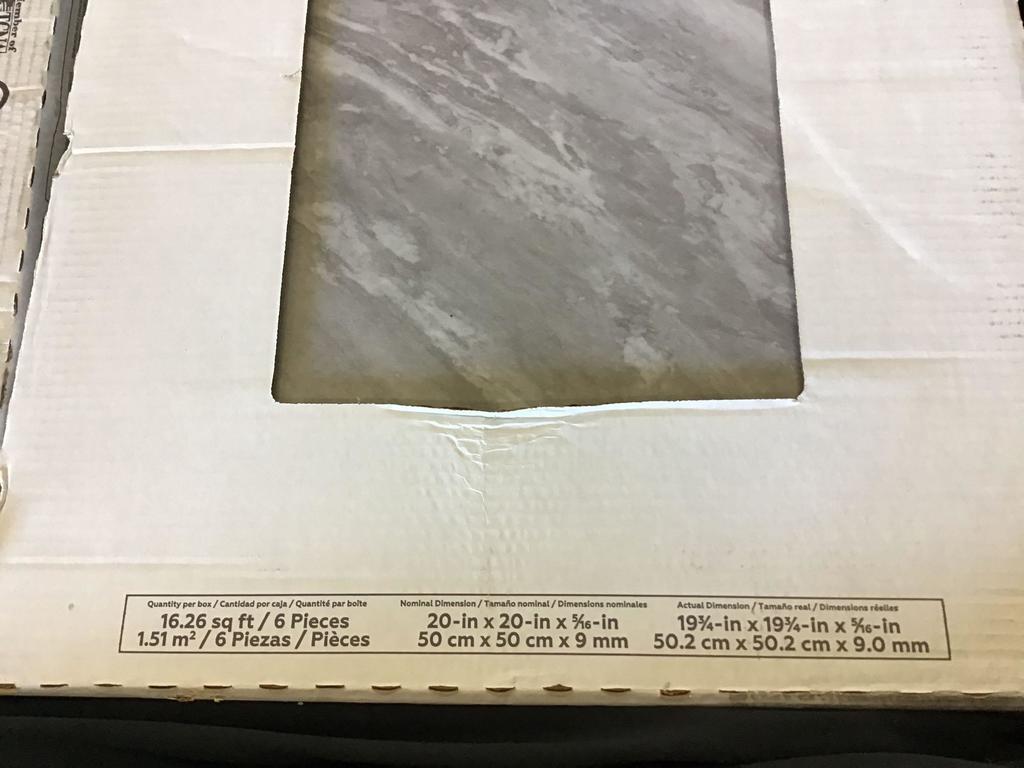 cases of daltile newgate gray marble