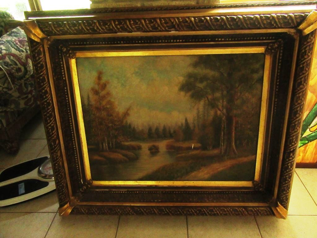 lot large oil on
